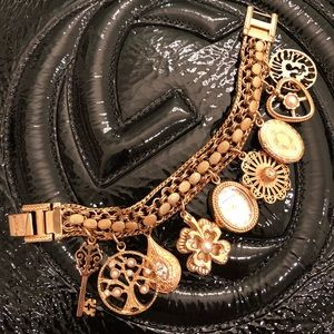 Anne Klein bracelet with charms and watch